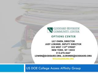 US DOE College Access Affinity Group