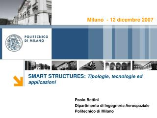 SMART STRUCTURES:  Tipologie, tecnologie ed applicazioni