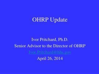 OHRP Update
