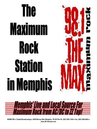 The  Maximum  Rock  Station  in Memphis
