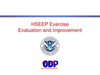 HSEEP Exercise Evaluation and Improvement