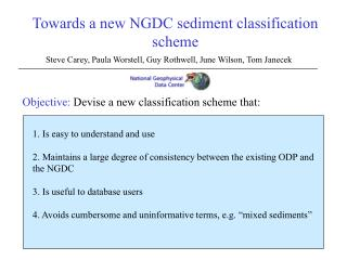Towards a new NGDC sediment classification scheme