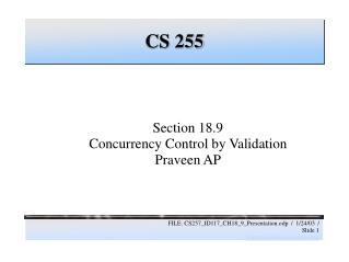 CS 255