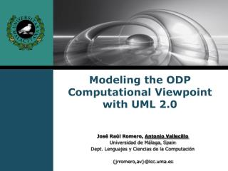 Modeling the ODP Computational Viewpoint with UML 2.0