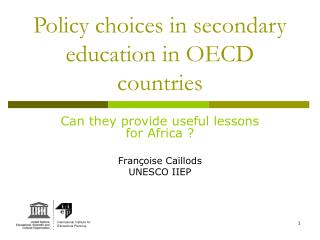 Policy choices in secondary education in OECD countries