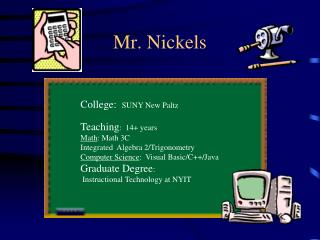 Mr. Nickels