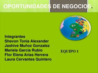 Integrantes Shevon Tonia  Alexander  Jashive  Muñoz  Gonzalez Mariela García Rubio