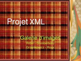 Projet XML