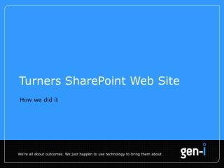 Turners SharePoint Web Site