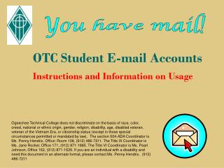 OTC Student E-mail Accounts