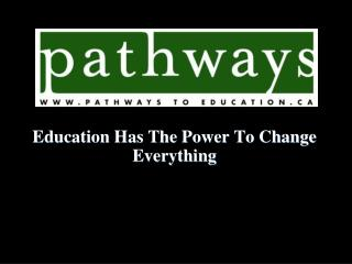 Education Has The Power To Change Everything