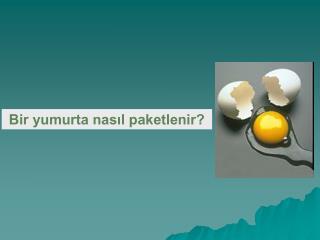 Bir yumurta nasıl paketlenir?