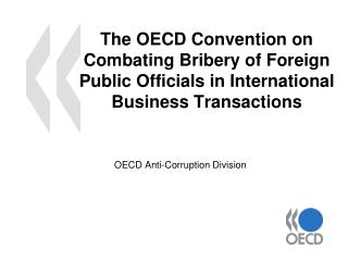 OECD Anti-Corruption Division