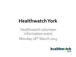 Healthwatch York