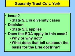 Guaranty Trust Co v. York