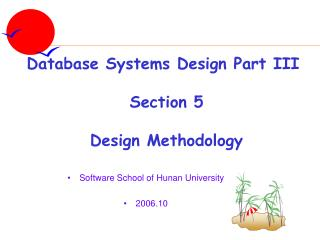 Software School of Hunan University 2006.10