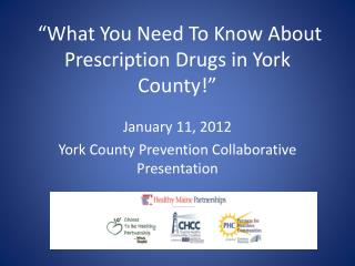 """What You Need To Know About Prescription Drugs in York County!"""