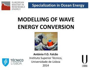 Specialization in Ocean Energy