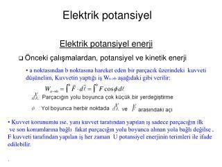 Elektrik potansiyel