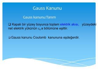 Gauss  Kanunu