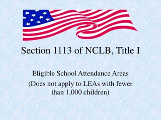 Section 1113 of NCLB, Title I