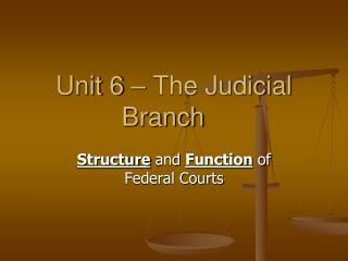 Unit 6 – The Judicial Branch