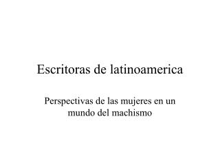 Escritoras de latinoamerica