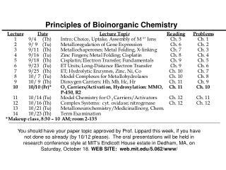 Principles of Bioinorganic Chemistry