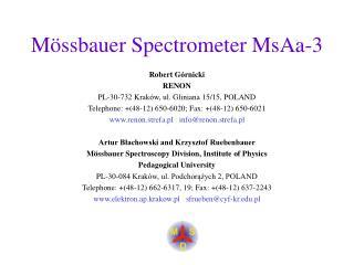 Mössbauer Spectrometer MsAa-3