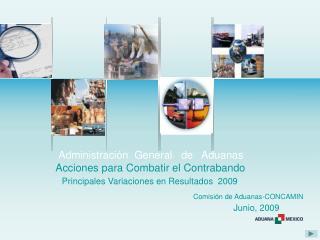 Administración  General   de   Aduanas    Acciones para Combatir el Contrabando