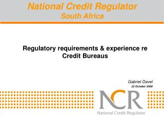 National Credit Regulator South Africa
