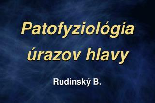 Patofyziol gia  razov hlavy