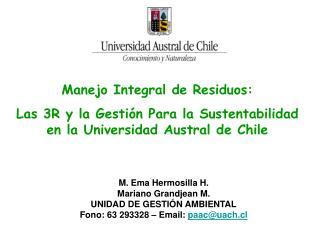Manejo Integral de Residuos: