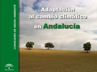 Adaptaci ón al cambio climático