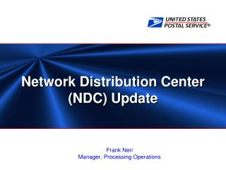 Network Distribution Center NDC Update