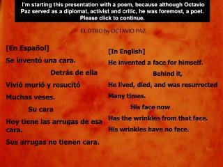 [En Español] Se inventó una cara. Detrás de ella Vivió murió y resucitó Muchas veses. Su cara