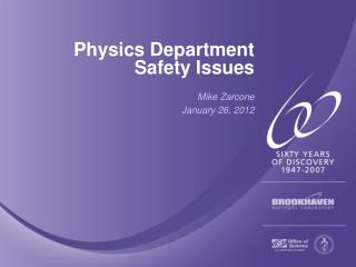 Physics Department Safety Issues