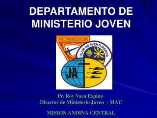 DEPARTAMENTO DE MINISTERIO JOVEN