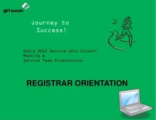 REGISTRAR ORIENTATION