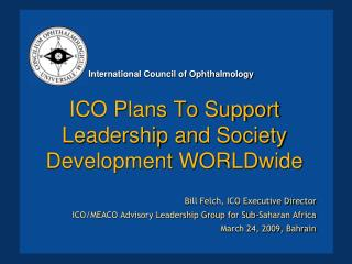 ICO Plans To Support Leadership and Society Development WORLDwide