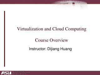 Virtualization and Cloud Computing Course Overview