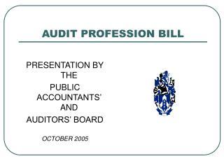 AUDIT PROFESSION BILL
