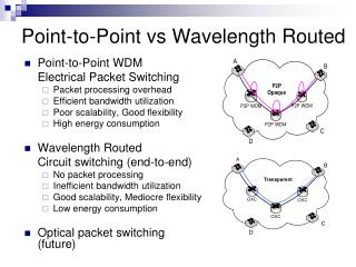 Point-to-Point vs Wavelength Routed