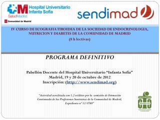 Viernes 19 de Octubre  Introducción teórica 15.30 – 16.00 Entrega de  documentación