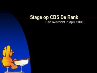 Stage op CBS De Rank