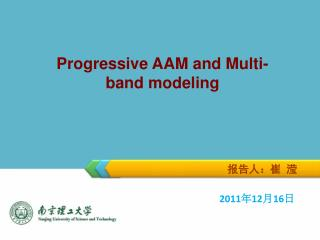 Progressive AAM and Multi-band modeling