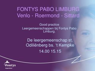 FONTYS PABO LIMBURG Venlo - Roermond - Sittard