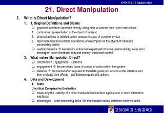 21.  Direct Manipulation