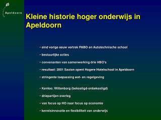 Kleine historie hoger onderwijs in Apeldoorn