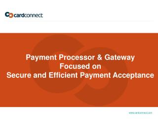 Payment Processor & Gateway Focused on Secure and Efficient Payment Acceptance